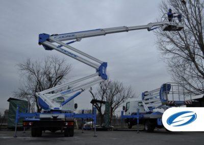 Plataforma elevadora sobre camión ForSte24DJ estabilizacion rapida