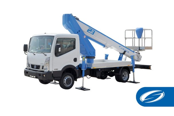 camion con cesta nissan ForSte 23T Socage