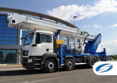 camion con plataforma telescopica jib ForSte 54TJJ Socage