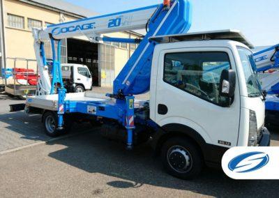 plataforma sobre camion ForSte 20TJ jib Socage