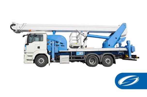 plataforma sobre camion ForSte 44TJ Socage