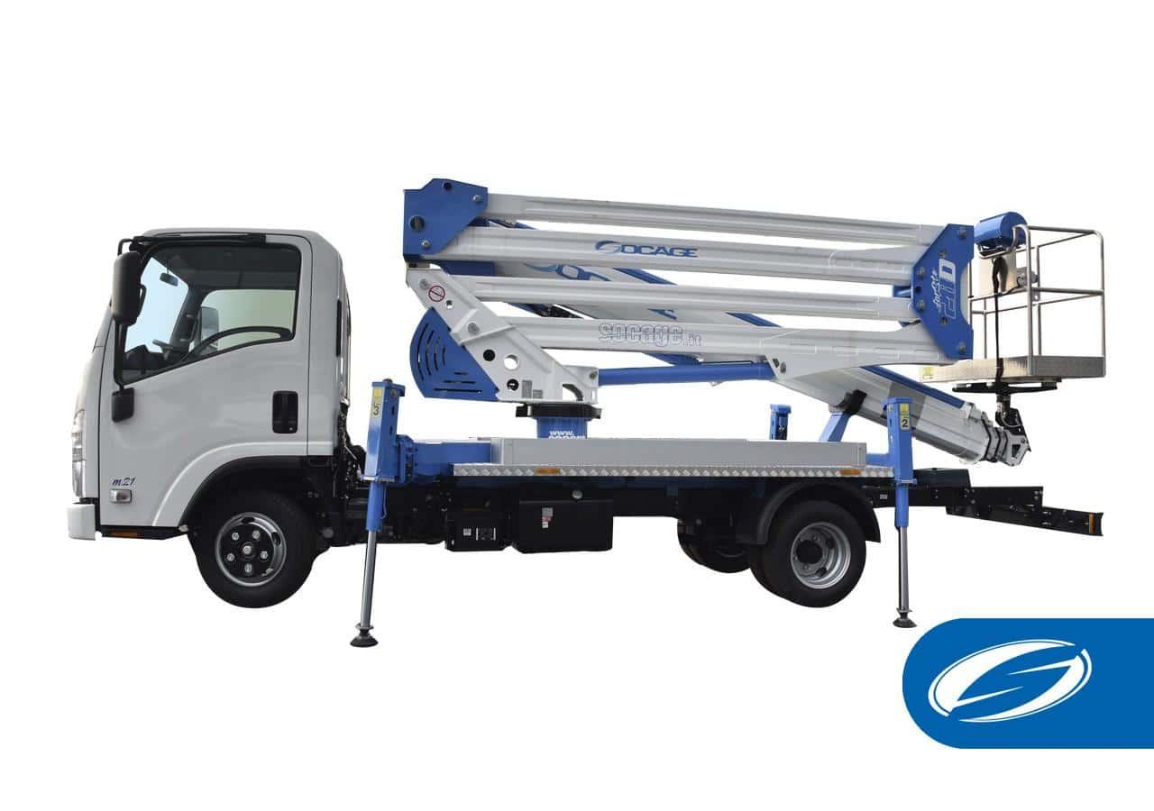camion con cesta elevadora ForSte 28D SPEED Socage