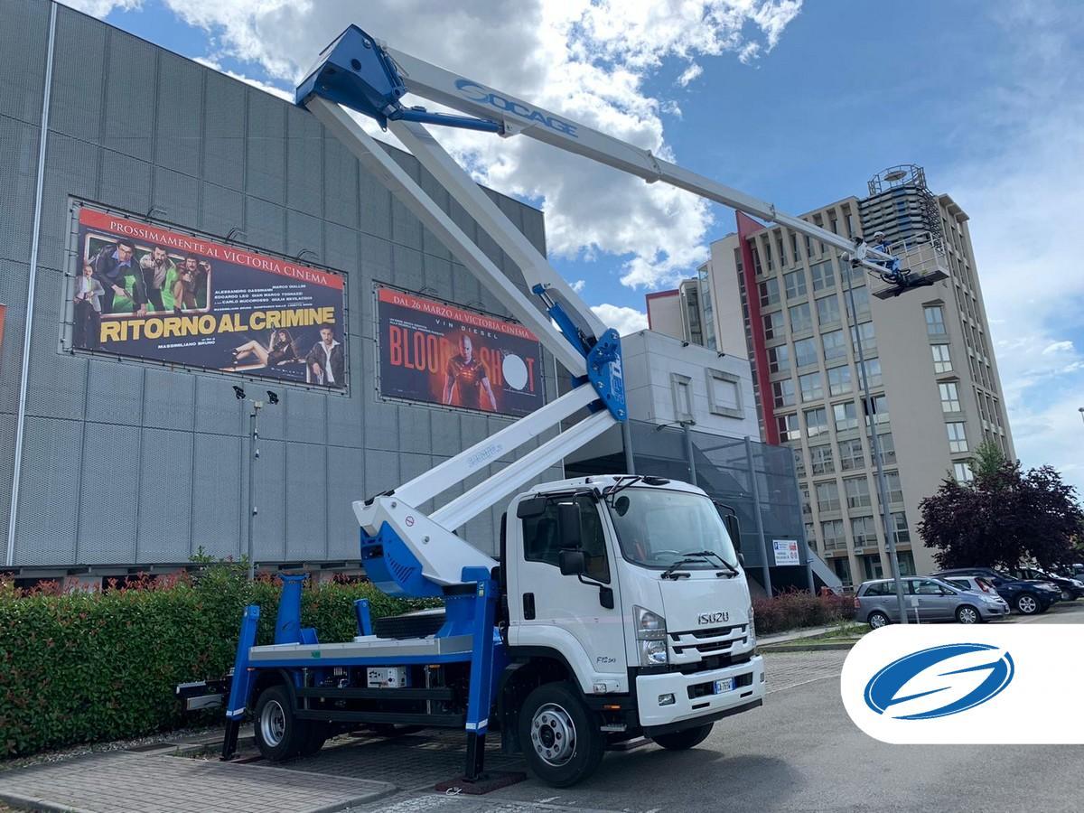 Camión con cesta elevadora 32DJ SPEED alcance lateral