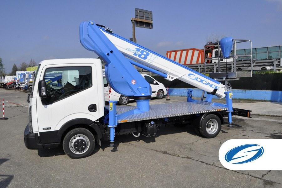 Camiones con cesta elevadora SOCAGE 18T estabilización speed