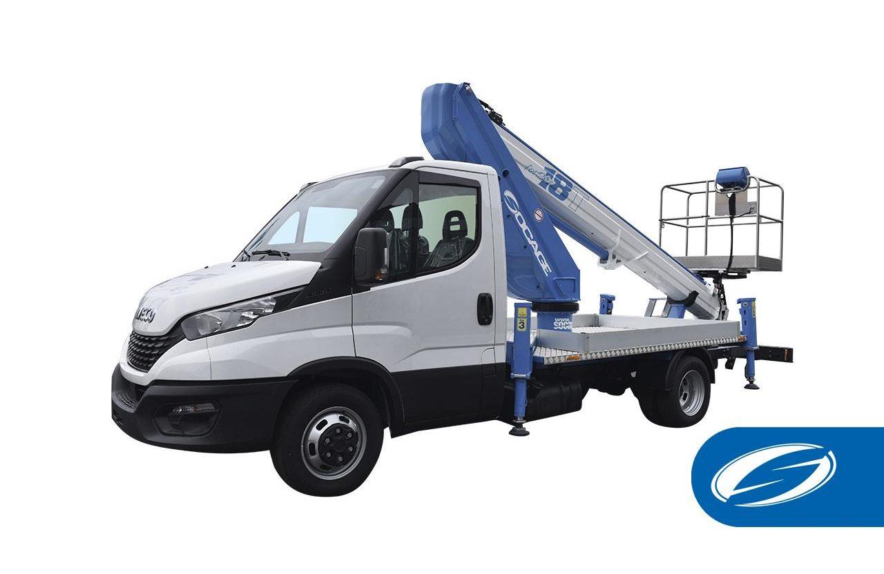 Camión con cesta elevadora Socage ForSte 18T