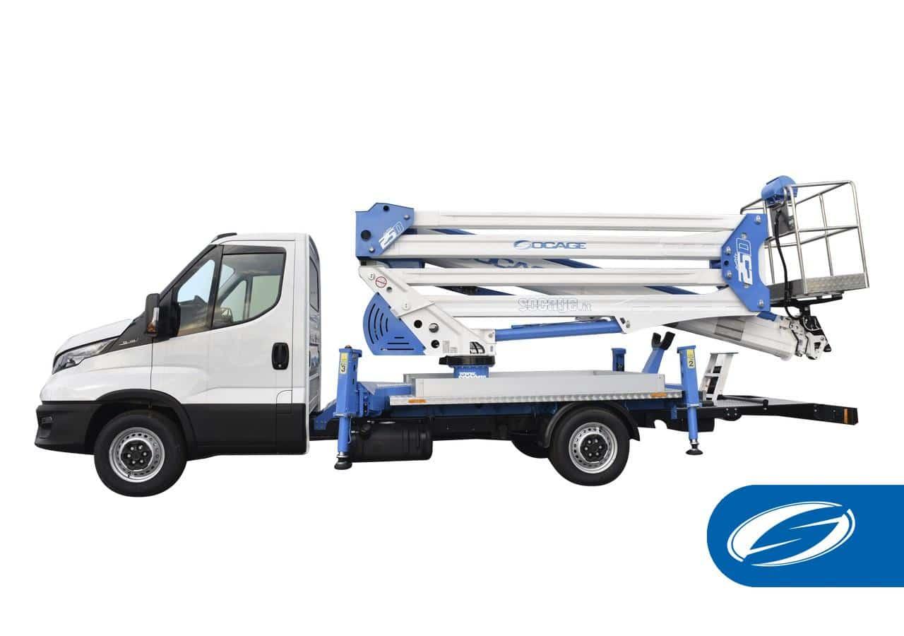 camion con cesta elevadora ForSte 25D socage
