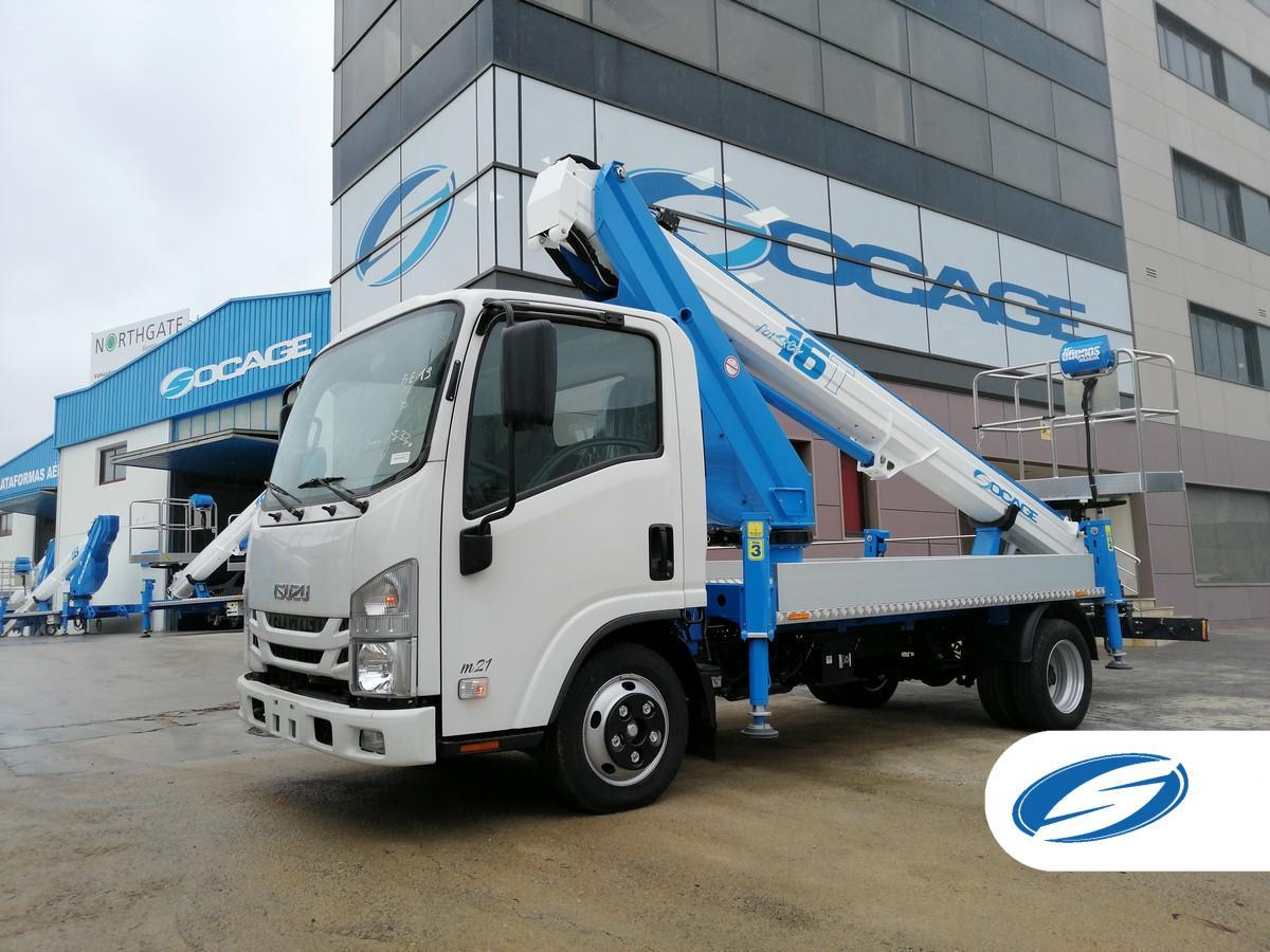 Socage 16T camion con cesta elevadora
